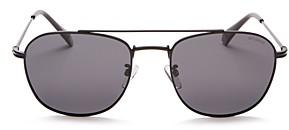 Polaroid Men's Polarized Brow Bar Aviator Sunglasses, 57mm