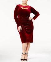 INC International Concepts Plus Size Velvet Cutout Sheath Dress, Only at Macy's