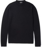 Giorgio Armani Honeycomb Textured Wool-Blend Sweater