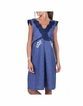 ELISA CAVALETTI by DANIELA DALLAVALLE EJP212031601 Cross Heart Dress - Blue - S