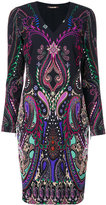 Roberto Cavalli v-neck dress - women - Elastodiene/Viscose - 44