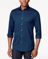Alfani Men's Big and Tall Classic Fit Long-Sleeve Box Print Shirt, Only at Macy's