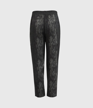 AllSaints Neve Low-Rise Tapered Snake Pants
