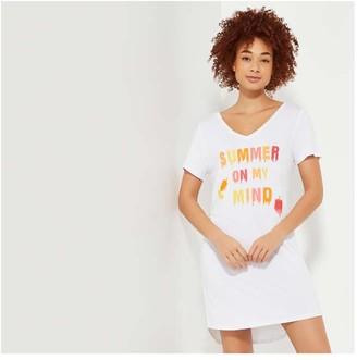 Joe Fresh Women's Sleep Chemise, White (Size S)