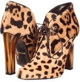 Roberto Cavalli Ocelot Laced Up Heel (Naturale) - Footwear