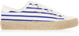DKNY Barbara striped canvas sneakers