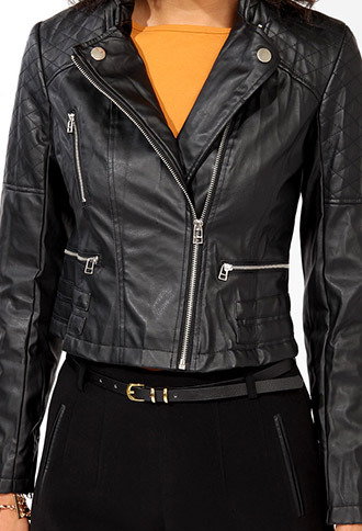 Forever 21 Quilted Stitch Bomber Jacket