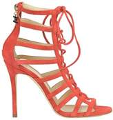 Elisabetta Franchi Women's Red Suede Sandals.