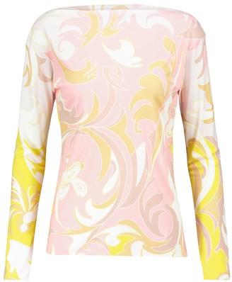 Emilio Pucci Dinamica printed jersey top