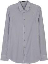 Alexander Mcqueen Black Pinstriped Harness Cotton Shirt