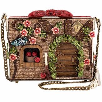 Mary Frances Charmed Cottage Embellished Dwarfs House Crossbody Handbag