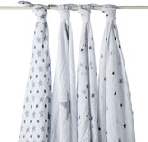 Aden Anais aden + anais Maxi Swaddle - Grey Stars - Pack of 4