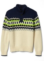 Gap Patterned mockneck sweater