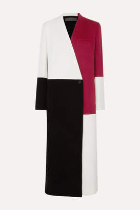 Haider Ackermann Color-block Wool And Cashmere-blend Coat - White