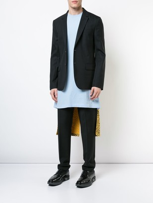 Comme des Garcons long contrast fitted T-shirt