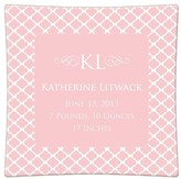 The Well Appointed House Chelsea Pink Personalized Birth Announcement Decoupage Plate-Available in a Variety of Sizes