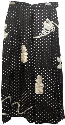Loewe Navy Linen Trousers for Women