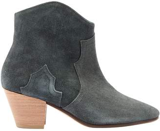 Isabel Marant Dicker Green Suede Ankle boots