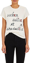 "Mira Mikati Women's ""Never Smile At A Crocodile"" Cotton Velveteen Top"