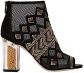 Katy Perry 90mm Nakano Studded Mesh & Suede Boots