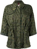 Moncler cropped sleeve raincoat