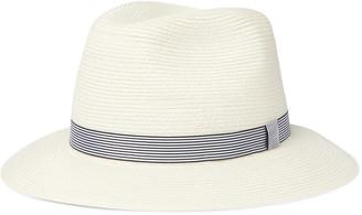 Loro Piana Grosgrain-Trimmed Straw Panama Hat