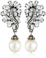 Swarovski Ben-Amun Jewelry Crystal and Glass Pearl Post Earrings