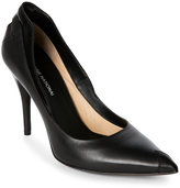 CNC Costume National Black Mixed Media Pointed Toe High Heel Pumps