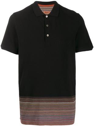 Missoni striped hem polo shirt
