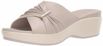 Cole Haan womens Aubree Grand Ruched Slide Flat Sandal