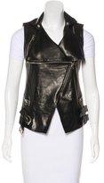 Balmain Leather Moto Vest