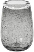 LOMBOK Abu Glass Vase Small In Smoked Grey