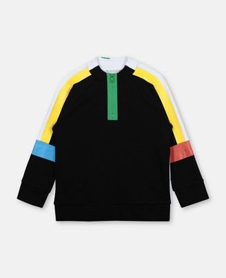 Stella Mccartney Kids Stella McCartney sport colour block cotton sweatshirt