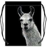 "Stylish Drawstring Bags Funny & Cute Llama Lama Basketball Drawstring Bags Backpack, Sports Equipment Bag - 16.5""(W) x 19.3""(H), Twin-sided Print"