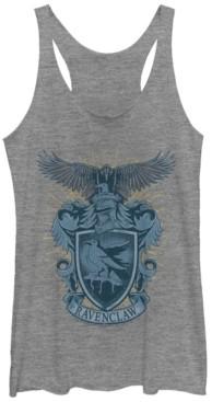Fifth Sun Harry Potter Hogwarts House Ravenclaw Crest Tri-Blend Women's Racerback Tank