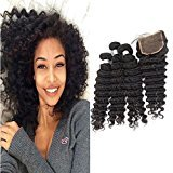 "Echo Beauty Peruvian Natrual Wave With Closure Unprocessed Remy Virgin Human Hair Extensions Natural Color 4pcs/lot 3pcs 20""22""24""and 1pc Closure 18"""