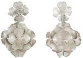 Natori Silver Plated Brass Peony Earrings