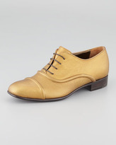 Lanvin Metallic Lace-Up Oxford, Bronze