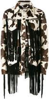DSQUARED2 Cow fringe jacket