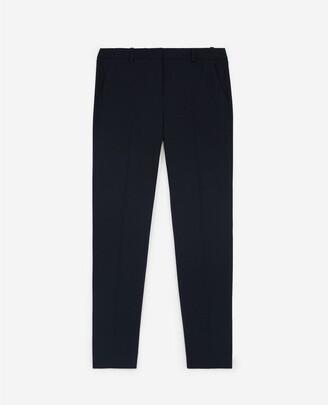 The Kooples Flowing navy blue suit trousers