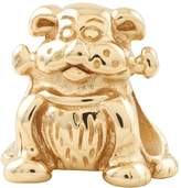Prerogatives 14K Yellow Gold-Plated Sterling Dog w/Bone Bead