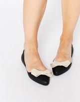 Melissa Trippy Black Bow Flat Shoes