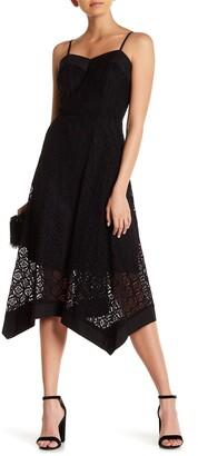 Nanette Lepore Sleeveless Lace Handkerchief Dress