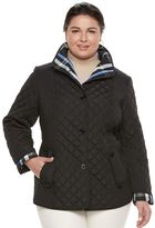 Gallery Plus Size Quilted Button-Front Barn Jacket