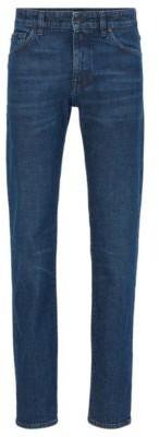 HUGO BOSS Regular-fit jeans in Italian ring-spun stretch denim