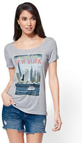 """New York & Co. """"Greetings from New York"""" Graphic Logo Tee"""