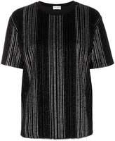 Saint Laurent metallic striped T-shirt