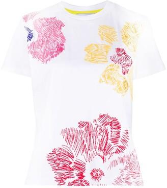 Mira Mikati embroidered flower pattern T-shirt