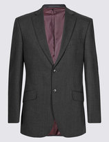 Marks And Spencer Charcoal Checked Slim Fit Suit