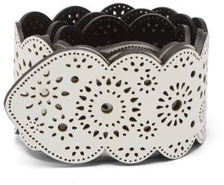 Gabriela Hearst Capi Laser-cut Leather Belt - Ivory